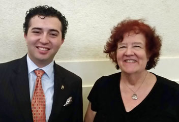 2018 Winner, Isaiah Castro and Anna Vorhes at the University of Redlands